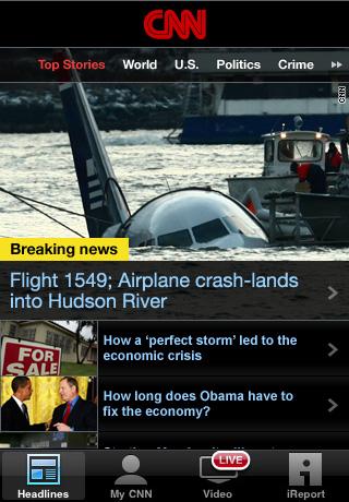CNN App for iPhone (U.S.) free app screenshot 1