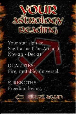Astrology Horoscope FREE free app screenshot 1