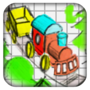 Doodle Train - Railroad Puzzler icon