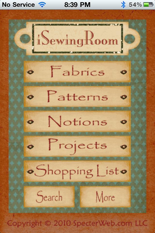 iSewingRoom Lite free app screenshot 1
