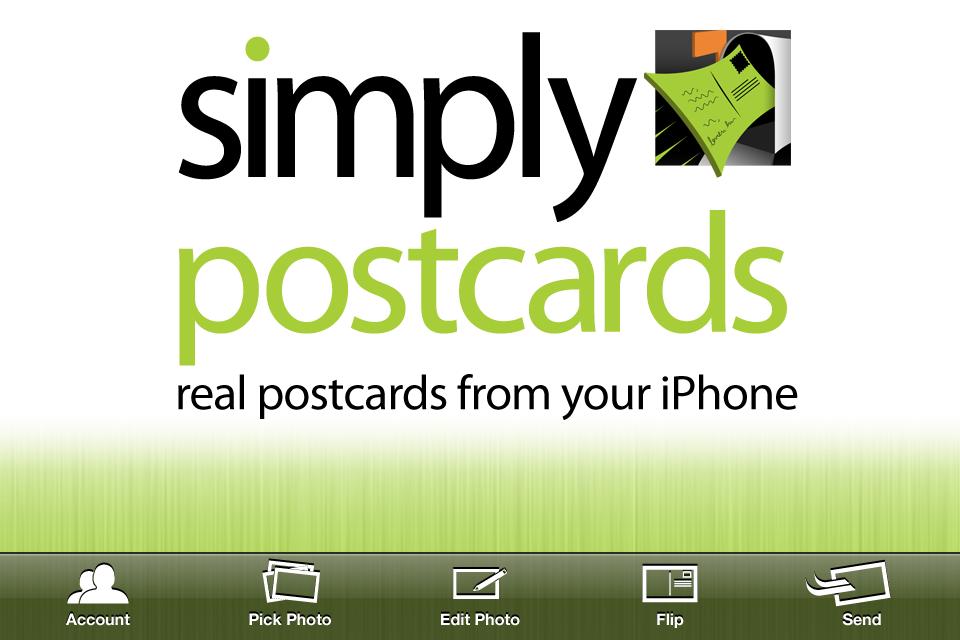 Simply Postcards free app screenshot 1