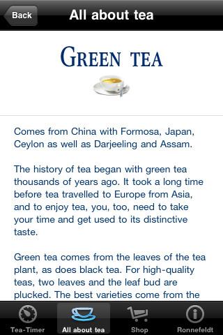 Ronnefeldt Tea-Timer iPhone Screenshot 5