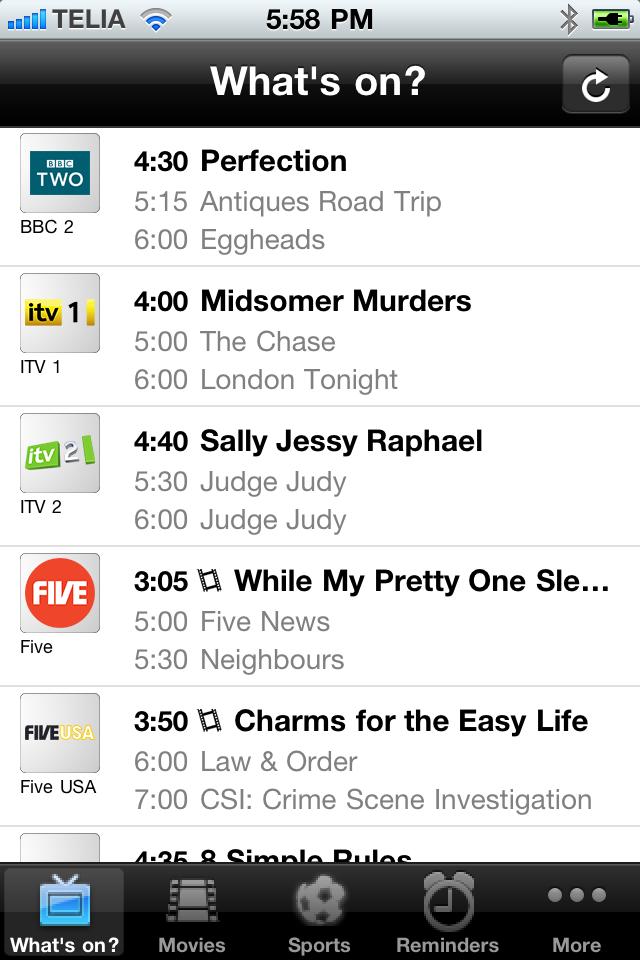 TV-Guide UK (free) free app screenshot 1