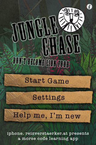 Jungle Chase – a morse code learning app Screenshot