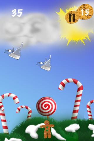 Gingerbread boy's Christmas dream LITE free app screenshot 1