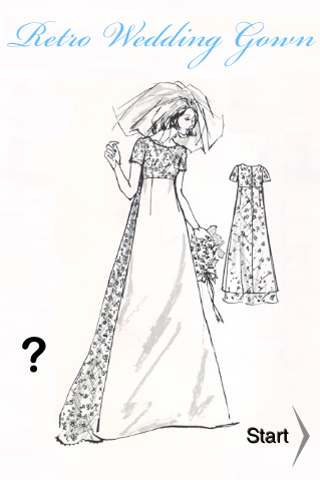 Retro Wedding Gown free app screenshot 1