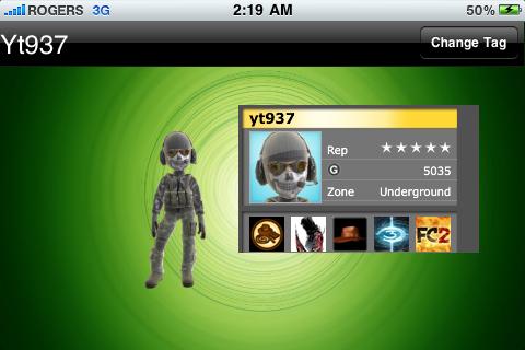 Xbox 360 Avatar Gamer Tag free app screenshot 1