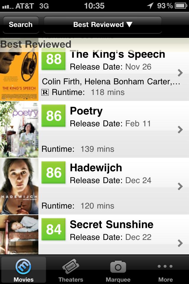 Movie Finder by Metacritic free app screenshot 1