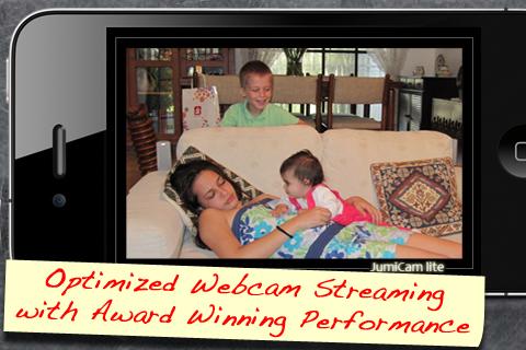 JumiCam Lite - Webcam video streaming & remote camera video & audio spying free app screenshot 1