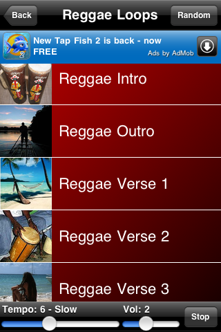 Reggae Loops Screenshot