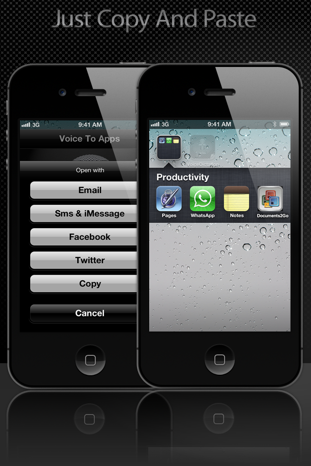 Voice To Apps – Voice To Messages And Email Screenshot