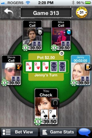 Screenshot Texas Turn Poker (TTP)