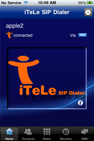 Image of iTeLe SIP Dialer for iPhone