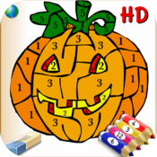 Color by Numbers Free for kids with stickers - numbered colorings icon
