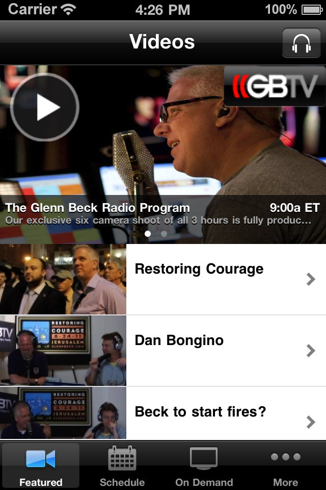 Image of Glenn Beck for iPhone