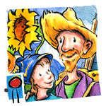 Van Gogh and the Sunflowers: encourage creativity and teach your child art history in this interactive book with text and paintings by Laurence Anholt
