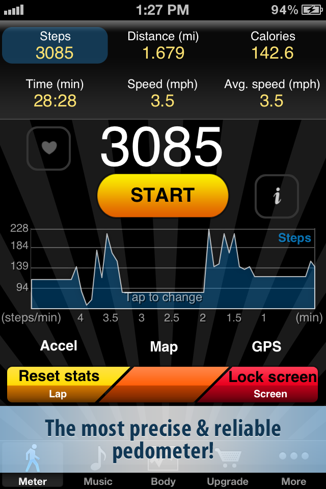 Pedometer FREE screenshot 1