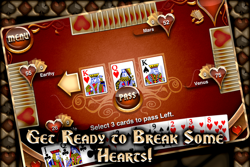 Free Hearts Tournament iPhone Game