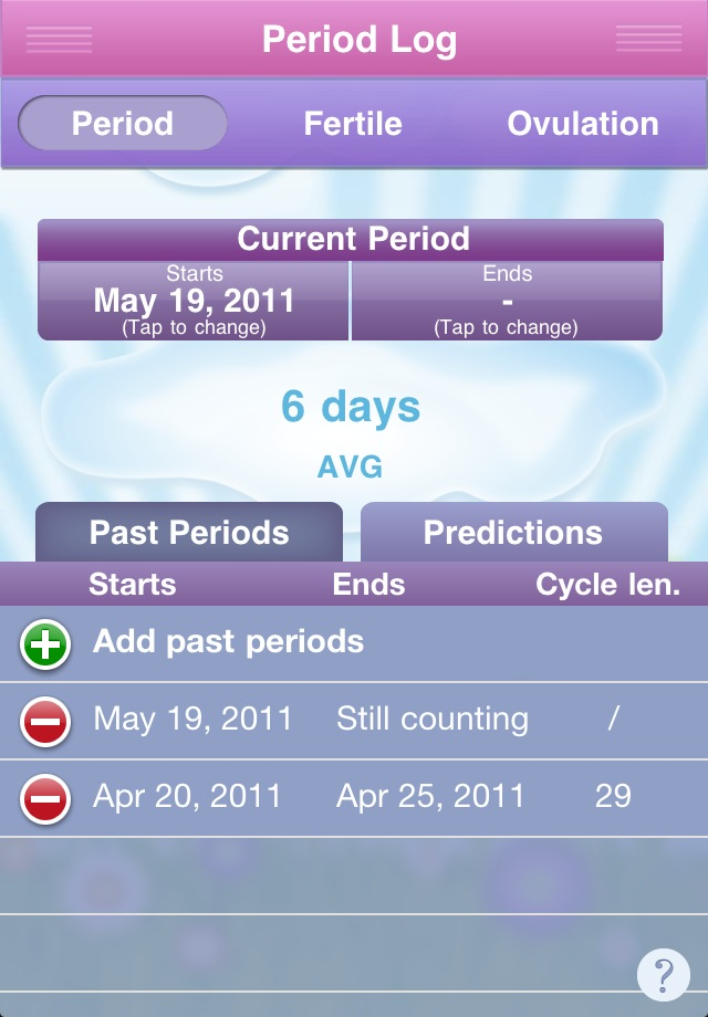 Image of Period Diary (Period, Fertile & Ovulation Tracker) for iPhone
