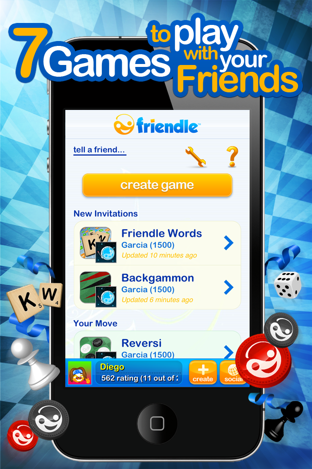 Friendle Free - 7 Games to Play with Your Friends