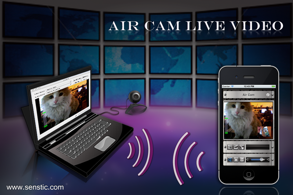 Air Cam Live Video (Lite) free app screenshot 1