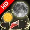 3D Sun and Moon Compass HD for iPad2 - Gyroscope enabled - Navigation - iPad - By Shen Ji Pan