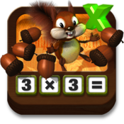 Multiplying Acorns - Tasty Math Facts icon