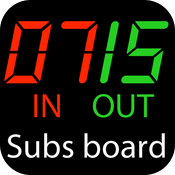 Football Substitute Number Board icon