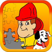 Fireman JigSaw Puzzles - Animated Puzzle Game for Kids with Fun Firetruck and Firemen Cartoons! icon
