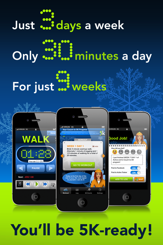 Couch to 5k free download for iphone ipod and ipad for Couch 5k app