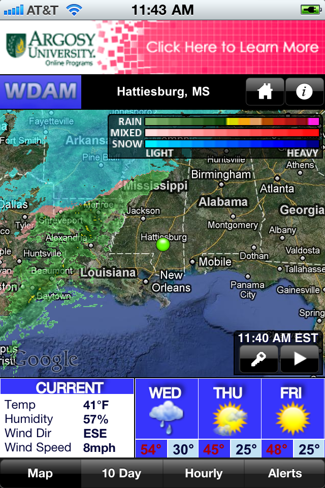 Image of WDAM Radar for iPhone