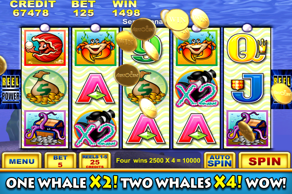 Image of Whales of Cash casino slot game for iPhone
