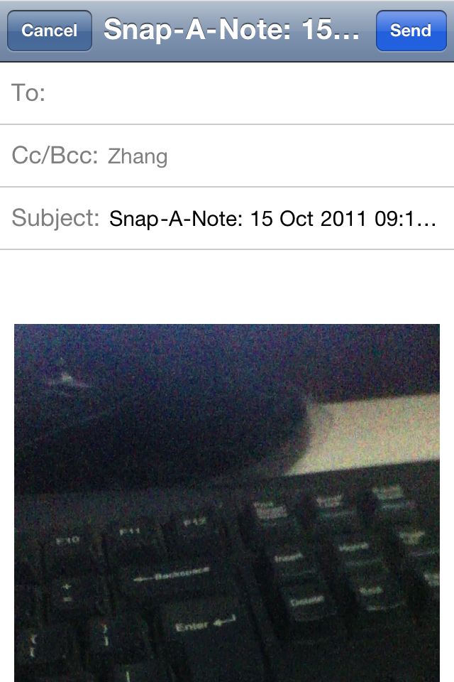 Snap-A-Note Screenshot