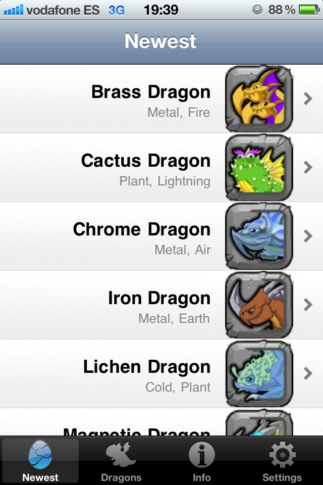 Dragonvale Portable Breeding Guide For Iphone Ipod Ipad