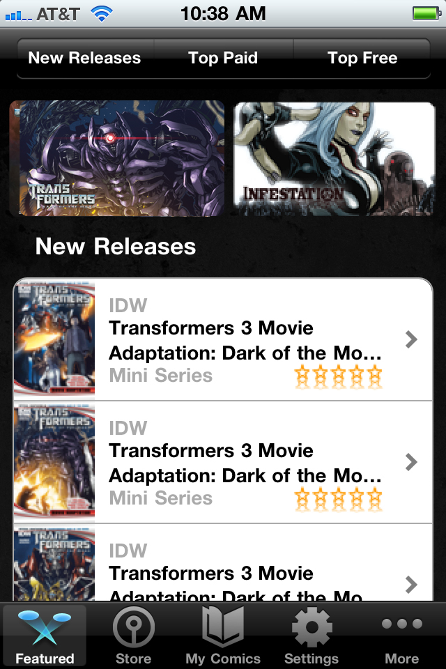 IDW Comics free app screenshot 1