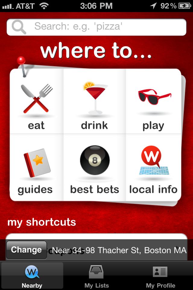 WHERE free app screenshot 1