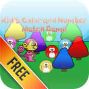 Kid's Color and Number Match HD Free icon