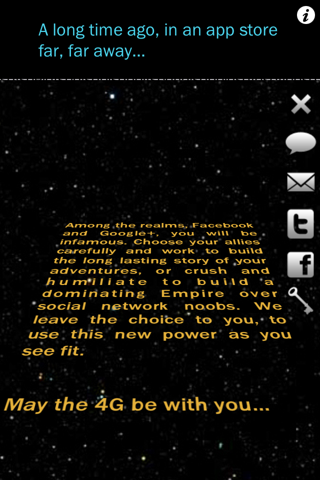 Crawl Creator: Star Words Message Creator Screenshot