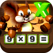 Multiplying Acorns HD - Tasty Math Facts icon