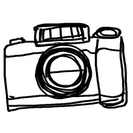 Line Drawing Camera : The gallery for gt camera clip art black and white simple