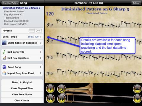 Trombone Pro HD Lite iPad Screenshot 1