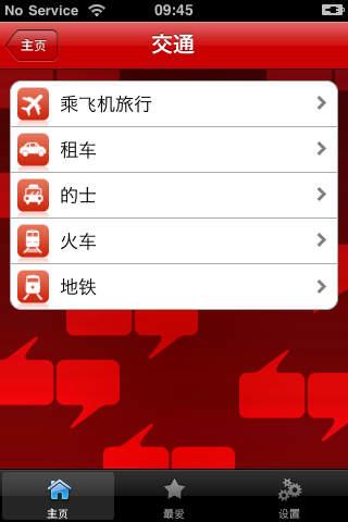 Screenshot of iLingua Mandarin / English