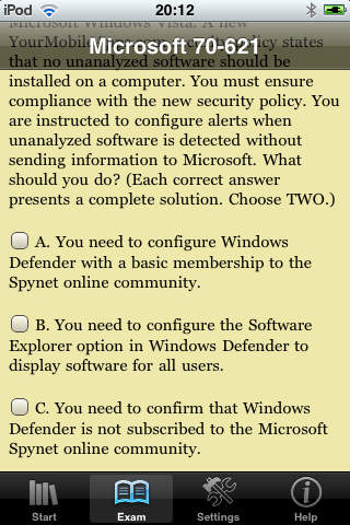 ITestEasy:Microsoft 70-621 Pro: Upgrading your MCDST Certification to MCITP Enterprise Support screenshot 3