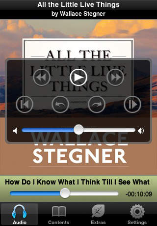 All the Little Live Things (by Wallace Stegner)