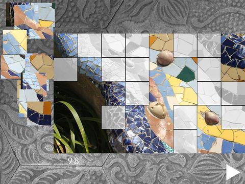 Park Güell 2 puzzle of Gaudí's famous park in Barcelona FREE