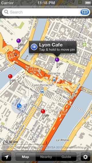 Smart Maps - Lyon iPhone Screenshot 1