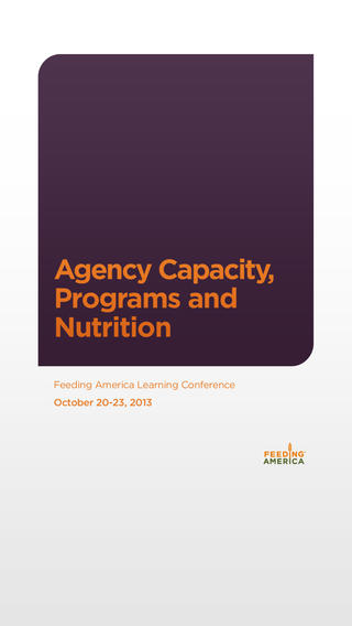 Agency Capacity Programs and Nurtition 2013