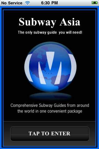 Subway Asia iPhone Screenshot 1