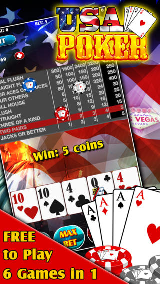 USA Poker - 6 Games in 1