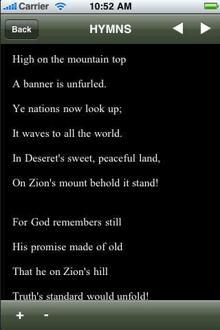 LDS Hymns App iPhone Screenshot 4